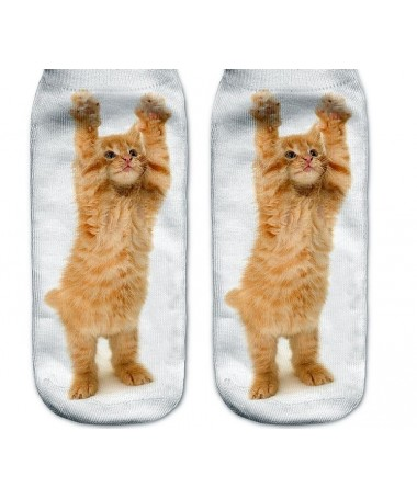 Kotníkové ponožky tančící kotě