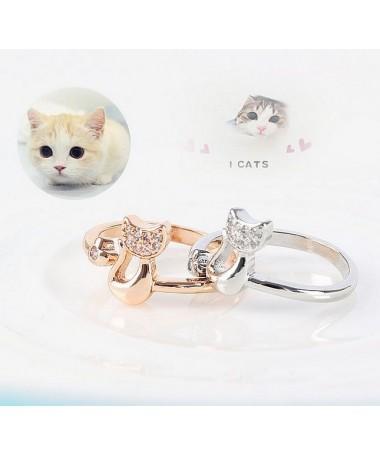 Prsten Zirkonová kočka