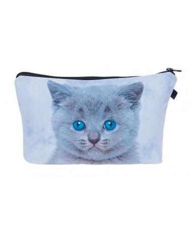 Kosmetická taštička Modré koťátko