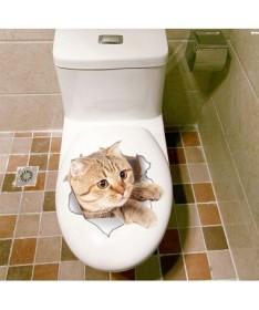 Hodinky 3D kočička