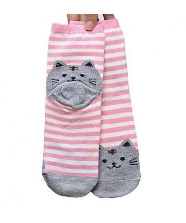Ponožky Pruhované kočičí