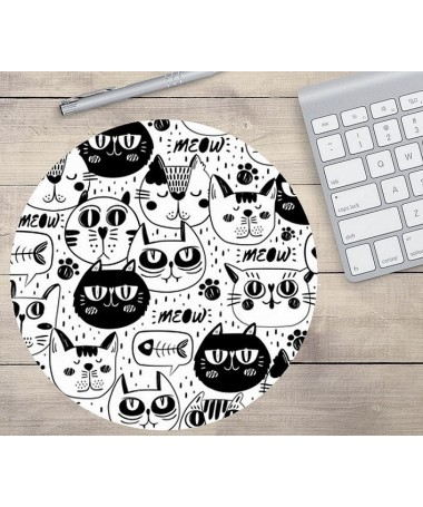 podložka pod myš černobílé kočky V.