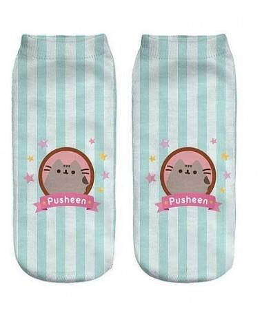 Kotníkové ponožky  pruhovaná Pusheen