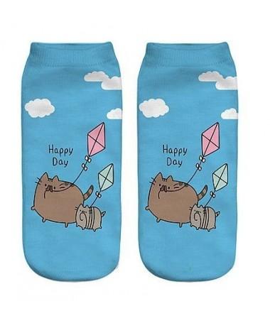 Kotníkové ponožky létající Pusheen