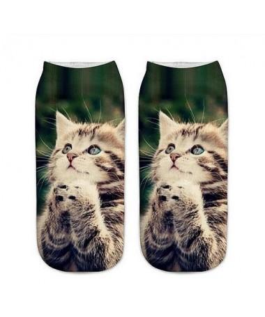 Kotníkové ponožky kočičí motlitba