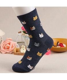 Ponožky teplé kočičí - více barev
