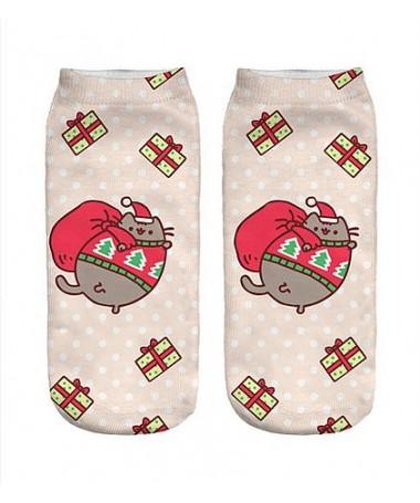 Kotníkové ponožky vánoční Pusheen