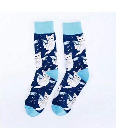 Ponožky teplé Andělská kočka