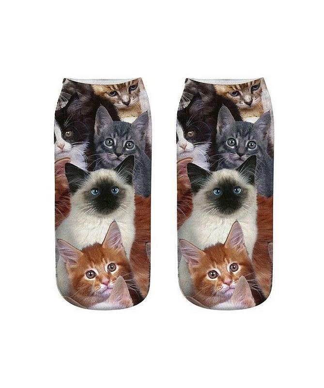 Kotníkové ponožky Všechny kočky světa