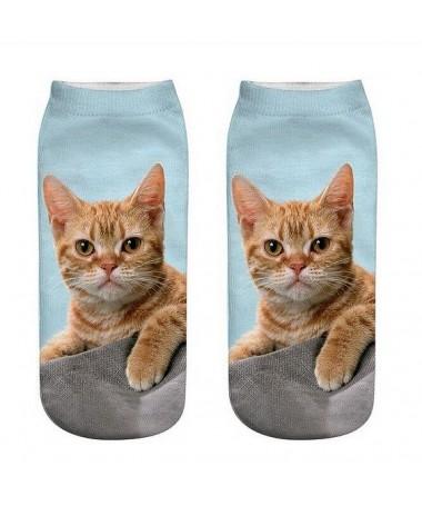Kotníkové ponožky Zrzavý kocourek