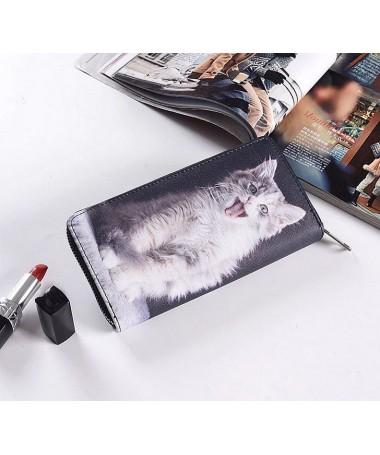Dámská peněženka Zívající kotě
