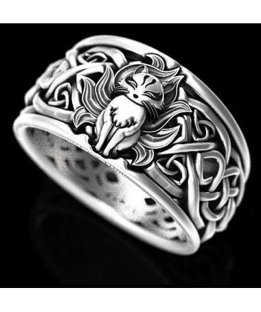 prsten s kočkou