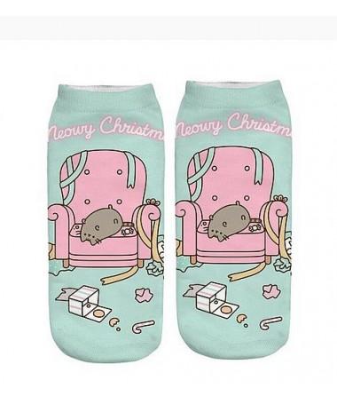kotnikove ponozky s kočkou pusheen