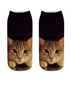 kotníkové ponožky s číhajjícím kocourem