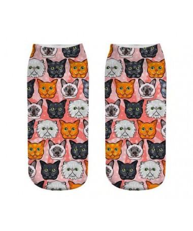 kotníkové ponožky s motivem koček