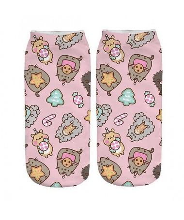kotníkové ponožky s motivem  kočky Pusheen