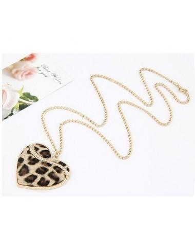 Náhrdelník leopardí srdce