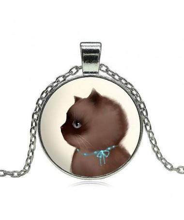 Náhrdelník Siamské Koťátko s mašličkou