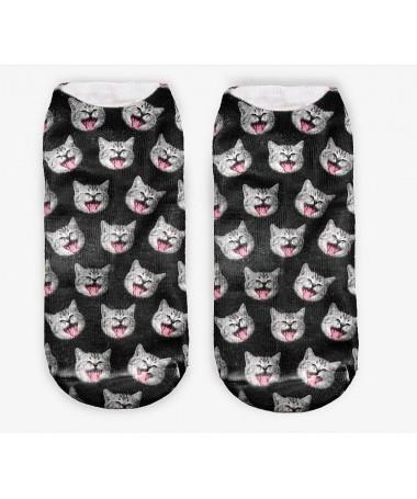 Kotníkové ponožky Smějící se kotě
